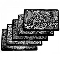 Antspaudų plokštelės nagų dailei 16 cm