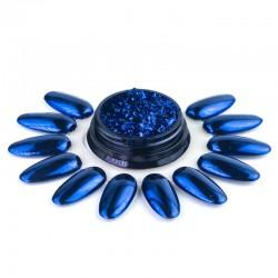 """Blizgi mėlynos spalvos pudra nagams """"Prisma Blue"""""""