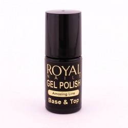 """Gelinio lako pagrindas ir viršutinis sluoksnis """"Royal Nails Base & Top"""""""