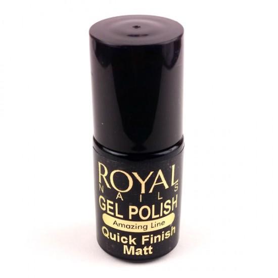"Matinis viršutinis sluoksnis ""Royal Nails Quick Finish Matt"" 5 ml."