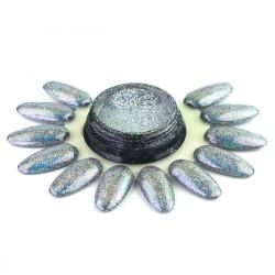 Holografinė vaivorykštinė pudrą nagų dizainui