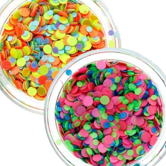 Konfeti mix nagų dekoracijos įvairių spalvų
