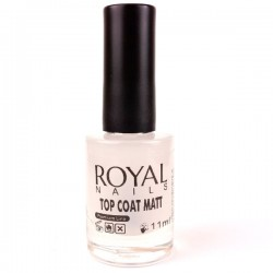 "Matinis viršutinis sluoksnis ""Royal Nails Top Coat Matt"" 11 ml."