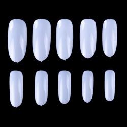 Suapvalintos formos tipsai nagams pieno spalvos maišelyje 600 vnt