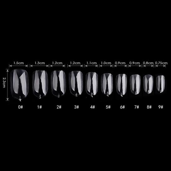 Ovalo formos tipsai nagams skaidrūs maišelyje 600 vnt