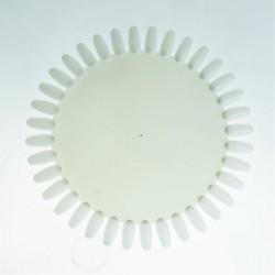 Paletė nagų lako ir dailės pavyzdžiams didelė balta