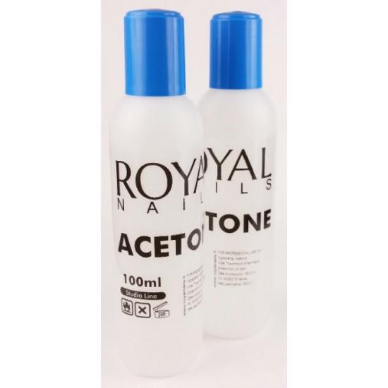 "Nagu lako valiklis su acetonu  ""Royal Nails"" 100 ml."