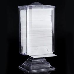 Skaidri kvadratinė dėžutė beplaušiams lapeliams manikiūrui