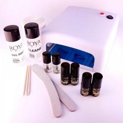 Rinkinys geliniam lakavimui su viršutiniu sluoksniu ir UV lempa