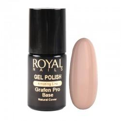 Kaučiukinis pagrindas geliniam lakavimui su atspalviu Royal Nails Grafen Pro Base Natural Cover