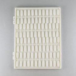 Paletė nagų pavyzdžiams dėžutėje su skaidriu dangteliu 96 vietos