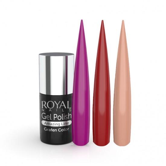 Ilgalaikis gelinis lakas Royal Nails Grafen Color