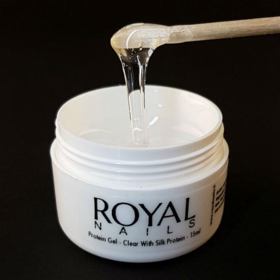 "UV skaidrus gelis su proteinais ""Royal Nails Perfect Line Protein Gel Clear"""