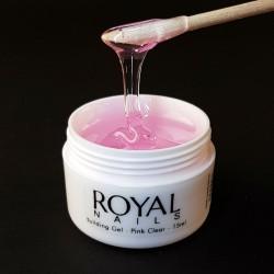 """Skaidrus-rožinis modeliavimo UV gelis """"Royal Nails Perfect Line Building Pink Clear"""""""