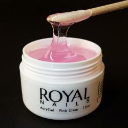 Rausvas akrilo-gelio junginys Royal Nails AcryGel Pink Clear