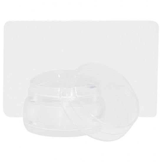 Platus silikoninis antspaudas nagų dizainams ir apsauginiu dangteliu