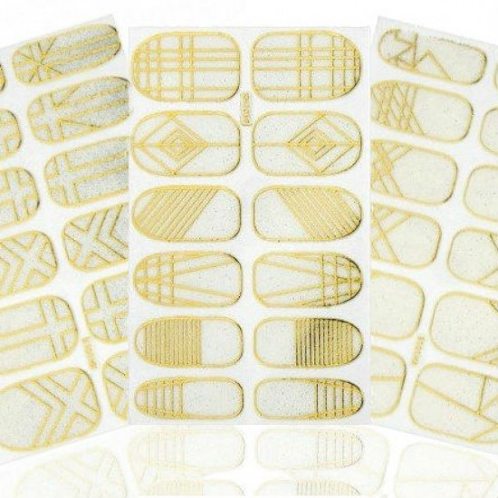 Nago formos lipdukai aukso spalvos