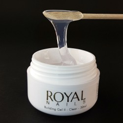 "Skaidrus UV gelis nagams ""Royal Nails Perfect Line Building II Clear"""