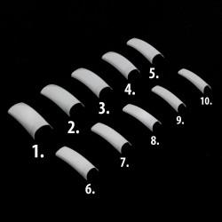 Balti tipsai nagams su maža kišene 600 vnt