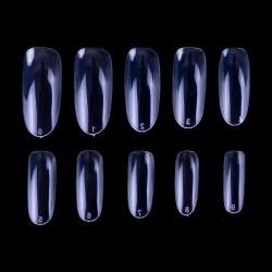 Suapvalintos formos tipsai nagams skaidrūs maišelyje 600 vnt