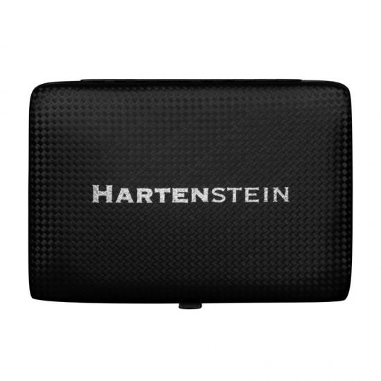 Manikiūro ir pedikiūro įrankių komlektas su dėklus HARTENSTEIN 15 elementų