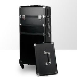 Trijų dalių lagaminas su 4 ratais ir reguliuojama rankena