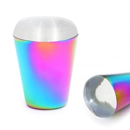"""Ivairiaspalvis silikoninis antspaudas su plokštele nagų dailei """"Rainbow"""""""