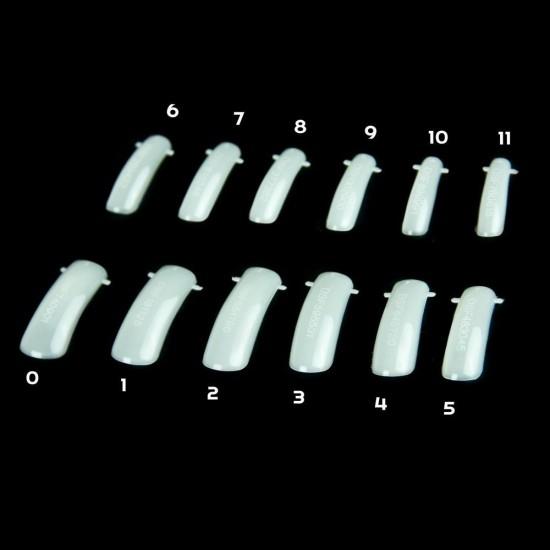 Lanksčios formos nagų priauginimui 120 vienetų dėžutėje