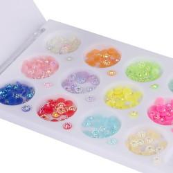Įvairių formų ir atspalvių nagų dailės dekoracijos dėžutėje Nr - 9
