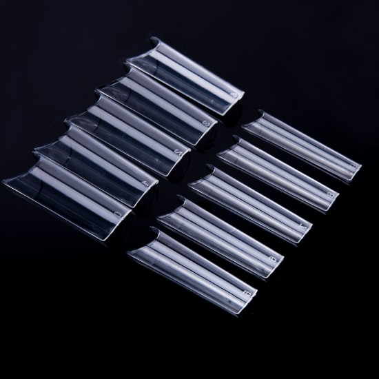 Tunelio formos skaidrūs tipsai nagams dėžutėje 100 vnt.
