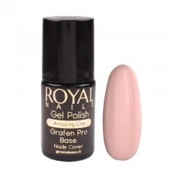 Kaučiukinis pagrindas geliniam lakavimui su atspalviu Royal Nails Grafen Pro Base Nude Cover