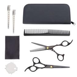 Plaukų kirpimo ir retinimo žirklių ir priedų rinkinys 8 dalys