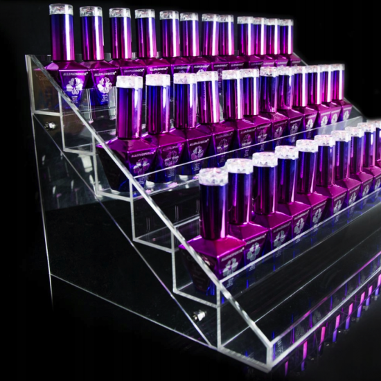 72 vietų didelis stovas nagų lako buteliukams su šešiomis lentynomis