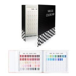 Ekspozicinis albumas - 120 nagų lakų spalvų paletė