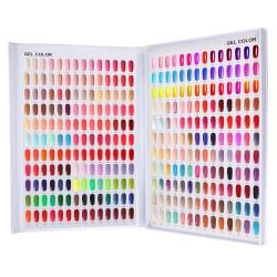 Ekspozicinis albumas - 308 nagų lakų spalvų paletė