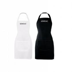 Elegantiška ir praktiška prijuostė su Semilac logotipu
