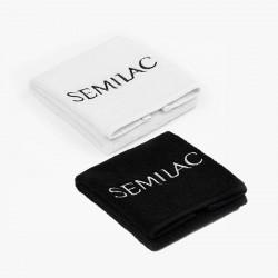 Elegantiškas rankšluostis su siuvinėtu Semilac logotipu