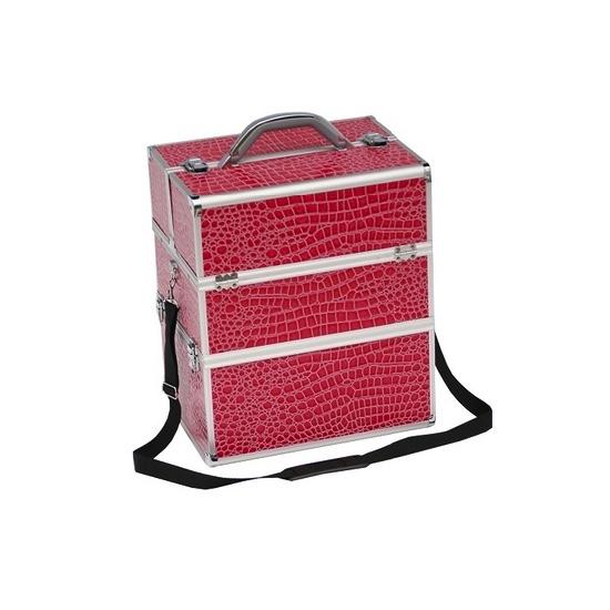 Dvigubas lagaminas kosmetinis su odos tekstūra