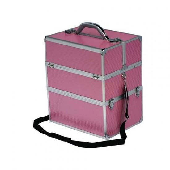 Dvigubas lygus kosmetinis lagaminas