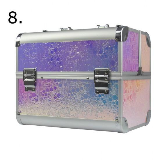 Įvairiaspalvis lagaminas kosmetinis Unicorn