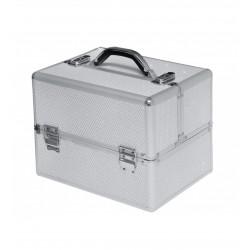 Kosmetinis lagaminas su dėklu statiems buteliukams