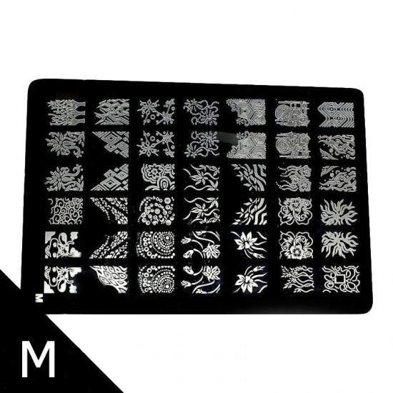 Antspaudų plokštelės nagų dailei 25 cm