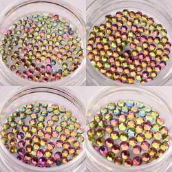 Cirkonio kristalai nagų dailei papuošimui Chameleon Pink