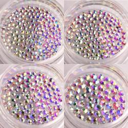 Cirkonio kristalai nagų dailei papuošimui Rainbow