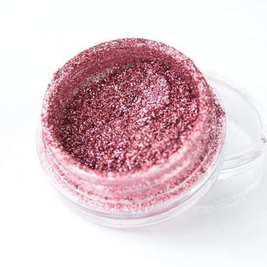 Rožinis blizgus efektas nagams Rose Golden