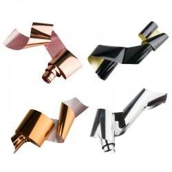Veidrodinio efekto atspaudžiama folija solidžiam nagų dizainui