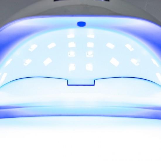 "48W LED/UV hibridinė lempa nagams su ""DUAL LED"" technologija"