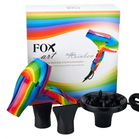 Plaukų džiovintuvas su jonizacijos funkcija ir difuzoriumi Fox Art Rainbow 2100W