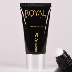 Baltas poly gelis Royal Nails Poly System Super White