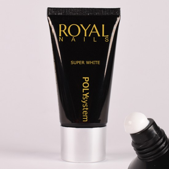 Baltas poly gelis Royal Nails Poly System Super White